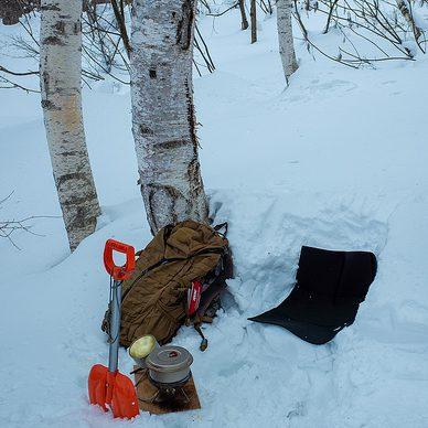 雪原散歩始め